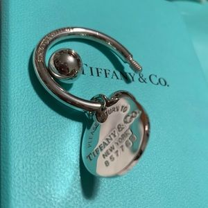 Authentic Tiffany & Co. Round Tag Key Ring 🤍